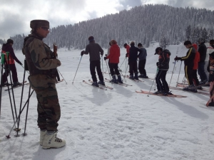 Indian Army guarding the ski piste
