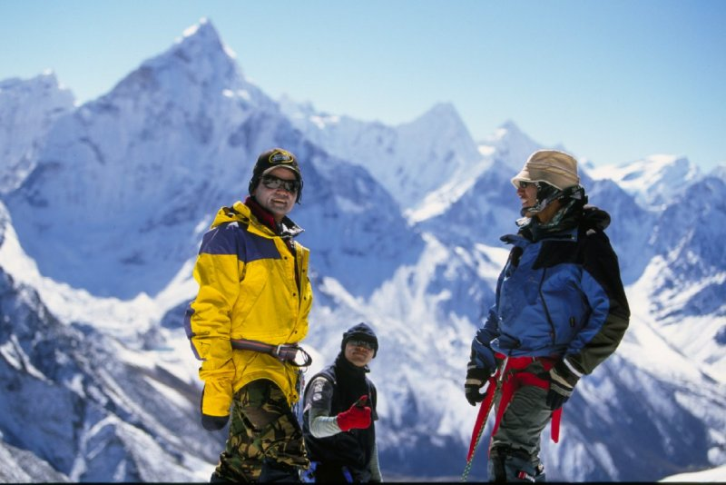 The Sherpa lads waiting for us to catch up