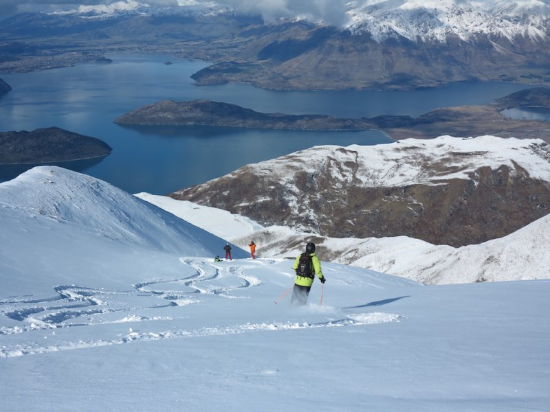 Heli-ski above Lake Wanaka